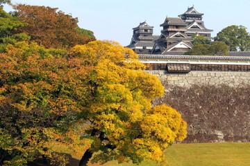 秋の熊本城天守閣群