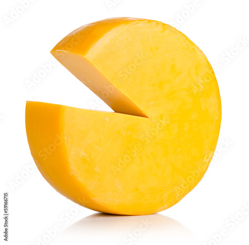 Cheese on white. File contains a path to isolation.