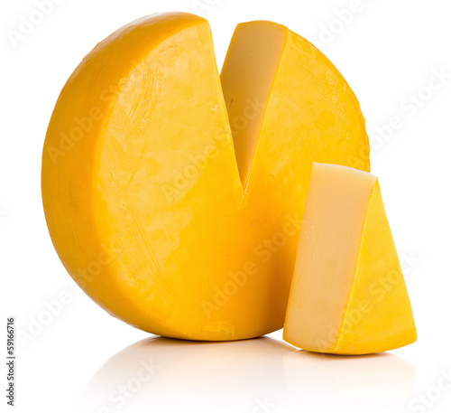 Cheese on white. File contains a path to isolation. - 59166716