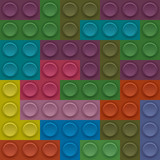 Colorful Lego block vector seamless illustration for your design poster