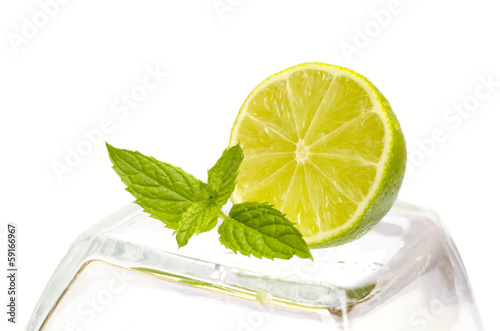 Fresh lime and mint