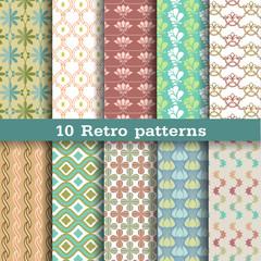 10 retro seamless patterns