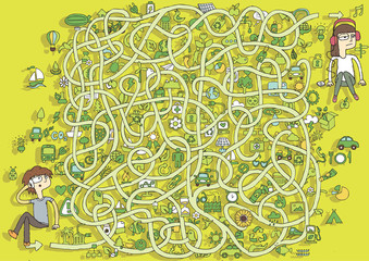 Ecology Maze Game. Solution in hidden layer!