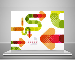 Arrow background abstract geometric template