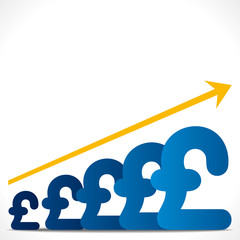 increase pound graph background vector