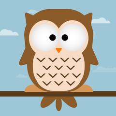 Cute owl vector illustration.