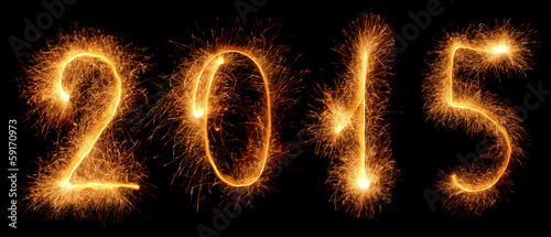 Sparkler. New year 2015