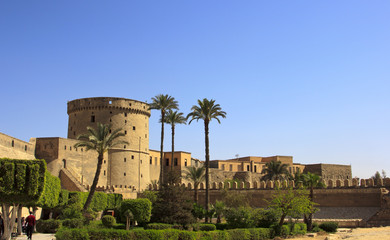 Towers of Mohamed Ali Citadel in Cairo