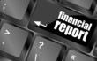 keyboard key with financial report button
