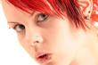 Junge Frau mit Piercings