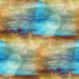 Fototapety texture watercolor brown, blue seamless