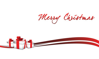 Merry Christmas with gift boxes