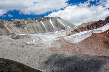 Landscape of glacier in Tien Shan Mountains
