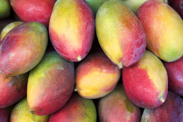 Fresh Colorful Mangoes Tropical Fruit Farmers Market