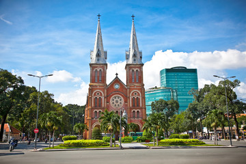 Notre-Dame Cathedral in Ho Chi Minh City, Vietnam.