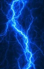 Blue abstract lightning