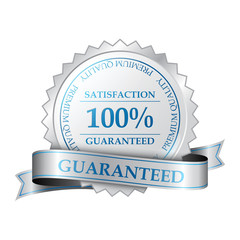 Vector Premium 100% satisfaction guarantee label