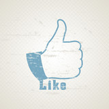Vector grunge  like hand for social network media