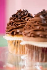 Close up of cupcake