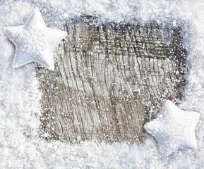 Frostiger Holzhintergrund