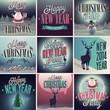 Christmas set - labels and emblems