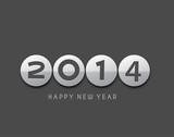 Happy new year 2014 celebration greeting card design