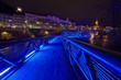 GRAZ,AUSTRIA-DECEMBER 7 :An artificial island on the Mur river i