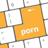 Porn button on computer pc keyboard
