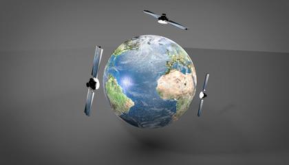 Globe - 3 satellites