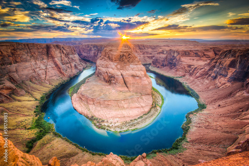 Poster Landschappen Horseshoe Bend, Grand Canyon