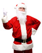 happy Santa Claus have an idea. Idea gesture