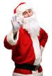 father Christmas or Santa Claus giving thumb up