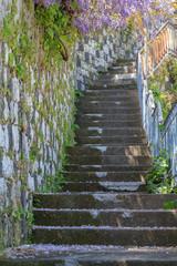 Narrow old staris in Taormina
