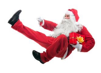 Kickboxing Santa Claus