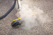Dry steam cleaner in action. - 59178194