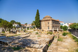 Athens. Roman Agora and Turkish Mosque (Fethiye Djami)