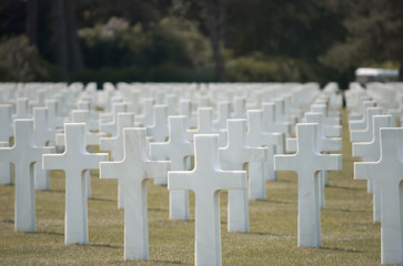 Thousends of Grave Stones at the American Cemetery