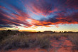 Beautiful kalahari sunset with dramatic clouds and grass - 59178757
