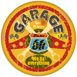 route 66 garage sign,retro style, vector eps 10