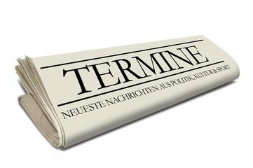 Zeitungsrolle mit Termine