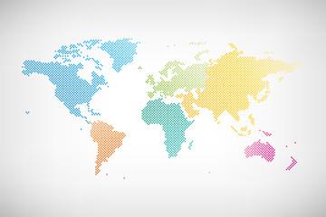 Welt Karte Kontinente