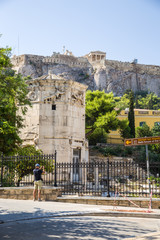 Athens. The Tower of the Winds and the Acropolis
