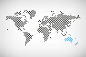 Ozeanien in Welt-Karte
