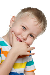 Joyful preschool boy