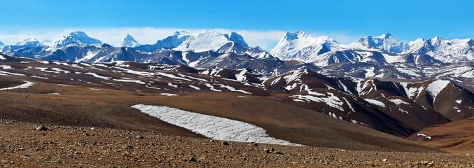 Mountain landscape in Ngari Prefecture, Tibet