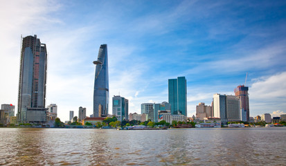 Business center in Ho Chi Minh City , Vietnam.