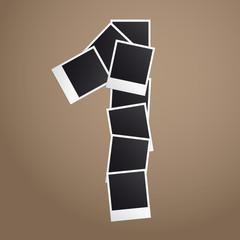 One of Polaroid photos. Vector illustration.