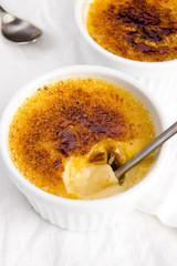 French dessert - cream brulee, burnt cream