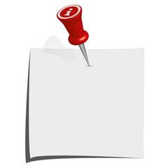 Info Pin mit Zettel