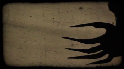 Spooky shadows on the wall
